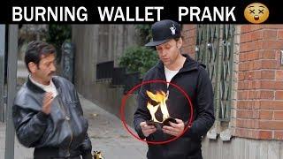 Burning Wallet PRANK🔥-Julien Magic