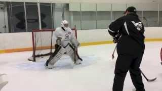Hockey Goaltending Drill - How to Control Breakaways with Ron Veit