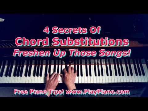 The 4 Secrets Of Exciting Chord Substitutions!
