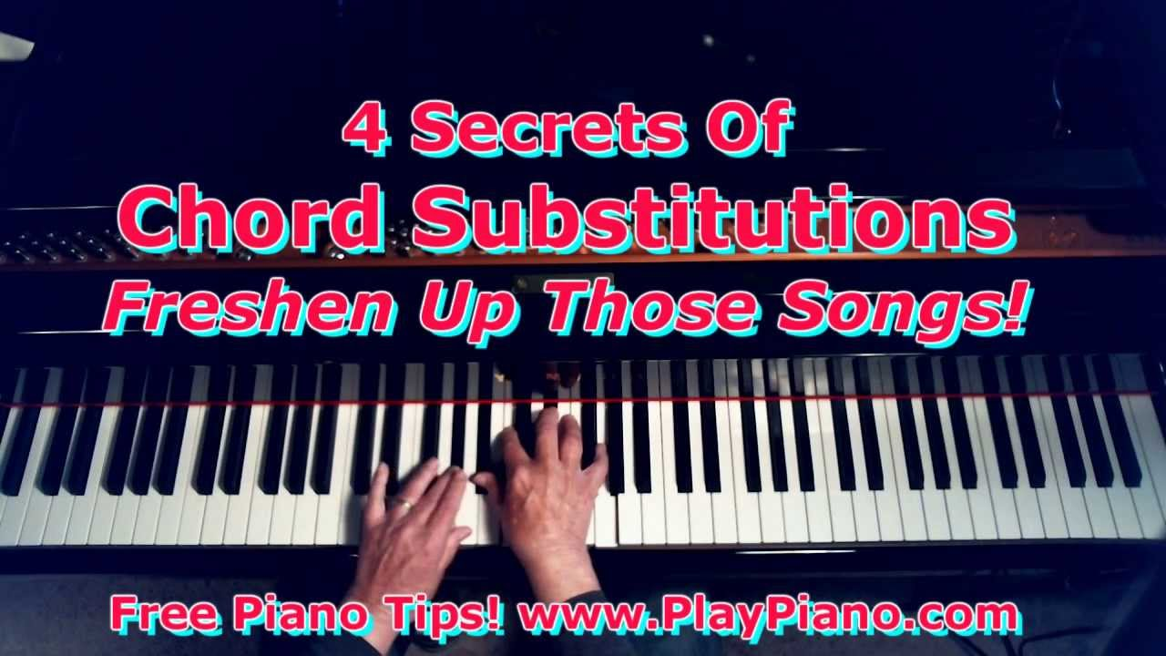The 4 secrets of exciting chord substitutions youtube hexwebz Image collections