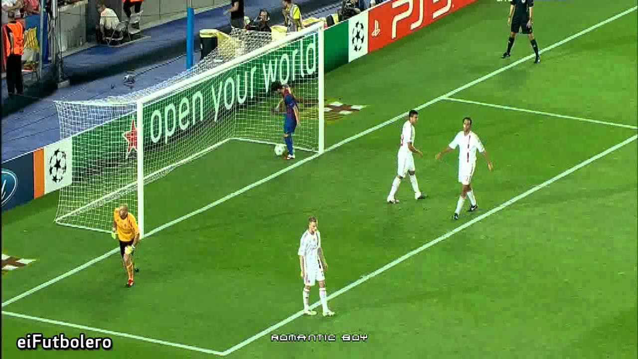 Fc Barcelona 2 2 Ac Milan Highlights 13 9 2011 Youtube