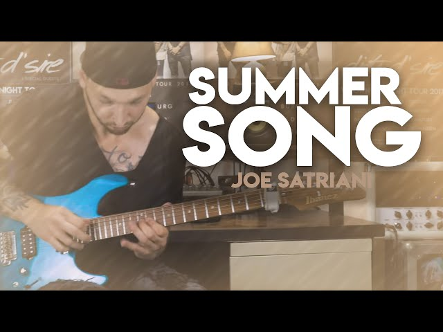 SUMMER SONG - JOE SATRIANI (4k Guitar, Drum & Bass Cover)