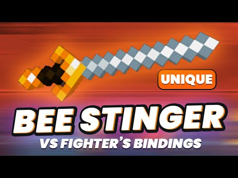 BEE STINGER vs Fighter's Bindings In-Depth Comparison Minecraft Dungeons