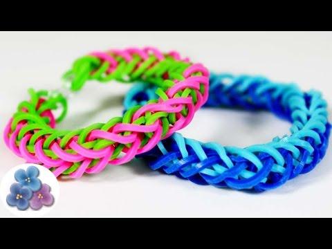 como hacer pulseras de gomitas tenza muy facil pulseras de ligas tutorial pintura facil