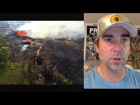 Kilauea Volcano Spewing Lava River into Geothermal Plant & Ocean