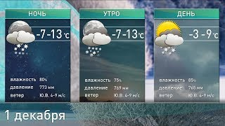 Прогноз погоды на 1 декабря