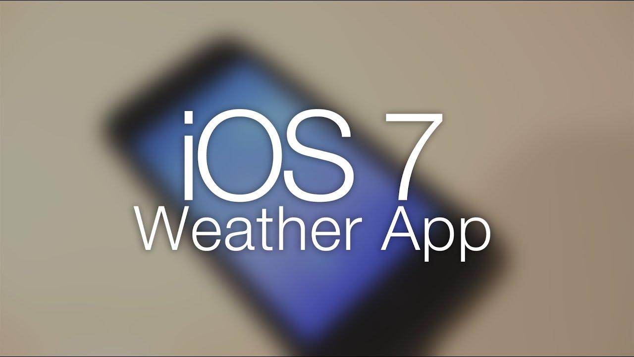 Ios 7 weather app explained youtube ios 7 weather app explained buycottarizona Gallery