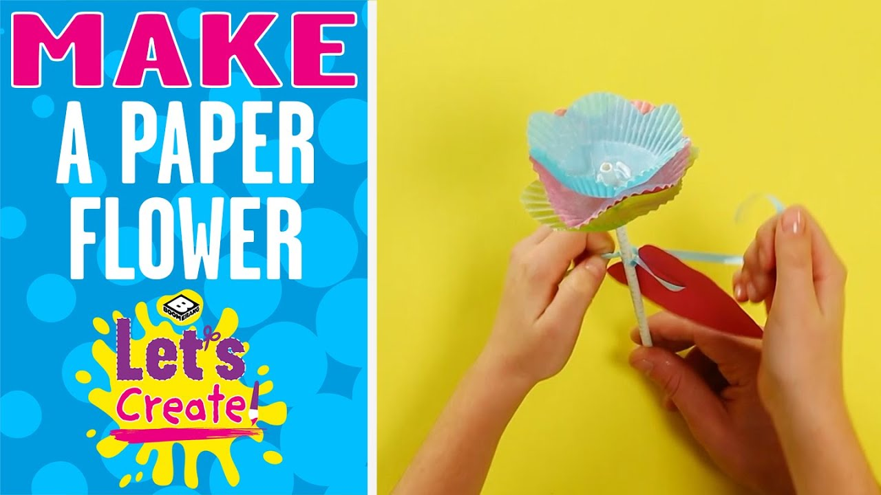 Let's Create! | How to make a Paper Flower | Boomerang UK 🇬🇧
