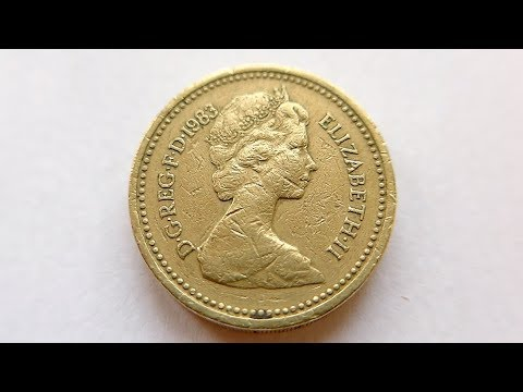 1 British Pound Coin :: United Kingdom 1983