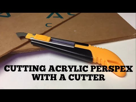How to cut Acrylic Perspex with a cutter