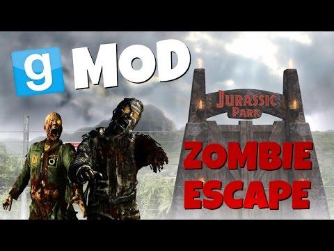 ZOMBIE W PARKU JURAJSKIM!!!   Garry's Mod: Zombie Escape#1