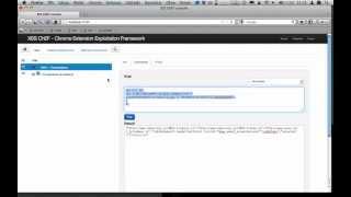 XSS ChEF - Chrome Extension Exploitation Framework demo