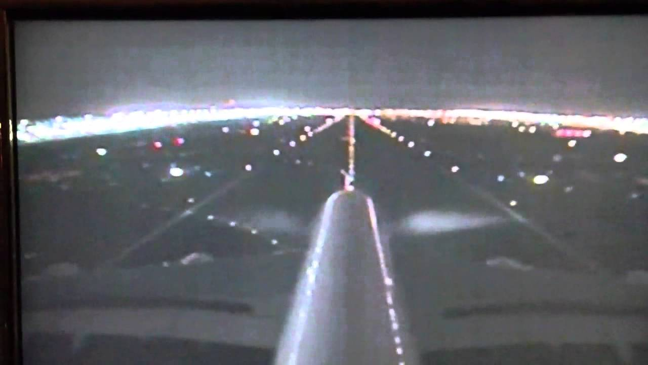 Emirates a380 night landing dubai front camera youtube - Emirates camera ...