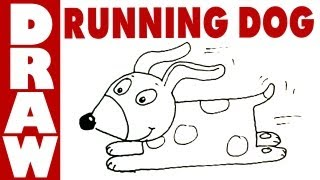 How to draw a running dog! (very easy)