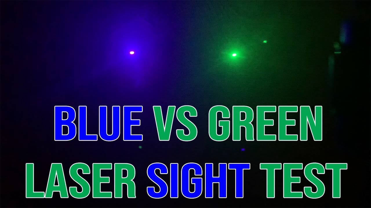 Which Laser Sight Color is BRIGHTER? | Blue vs Green