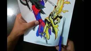 Naruto vs Madara 3D Drawing Naruto x Madara in 3D របៀបគូររូប3d