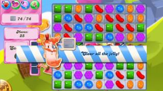 Candy Crush Saga level 1665 no boosters strip candy jelly round
