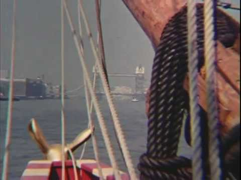 Golden Hinde II - Build, Launch & Sailing Into London 1973