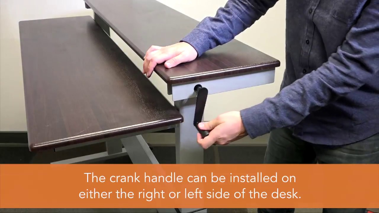 Two Tier Crank Standing Desk Assembly Video | Stand Up Desk Store