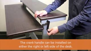 Two-Tier Crank Standing Desk Assembly Video | Stand Up Desk Store