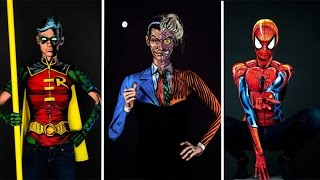 Bodypainter Turns Herself Into Comic Book Characters