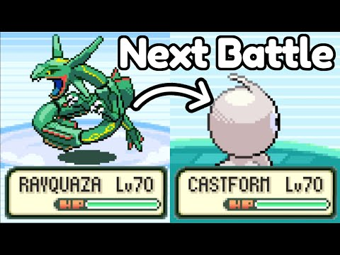 Beating Emerald But With Random Pokemon Each Battle