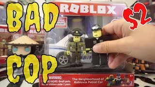 UNBOXING ROBLOX POLICE PATROL VEHICLE IRL THE NEIGHBORHOOD OF ROBLOXIA ACTION FIGURES