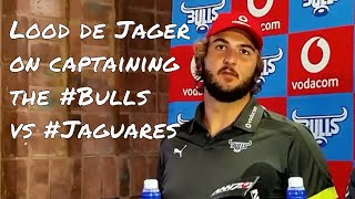 Lood de Jager on captaining the #Bulls vs #Jaguares