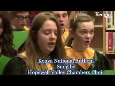 American Students Sing Kenya National Anthem