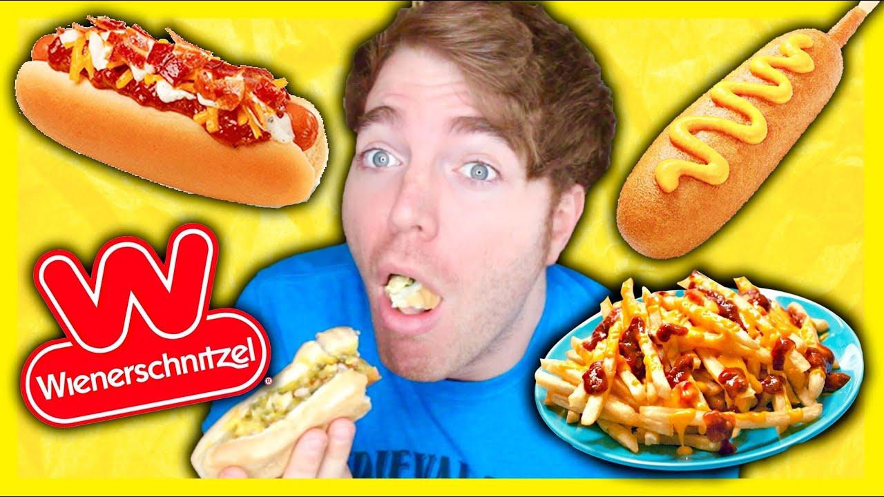 TASTING WIENERSCHNITZEL FOODS - YouTube