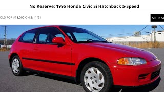 homepage tile video photo for (BRING A TRAILER RECORD) BOUGHT THE MOST EXPENSIVE STOCK EG CIVIC EVER!!