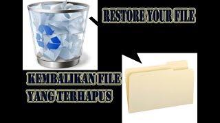 Cara Mengembalikan/restore file yang terhapus di Recycle Bin