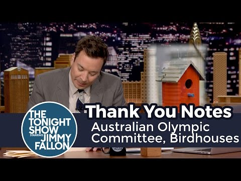 Thank You Notes: Australian Olympic Committee, Birdhouses