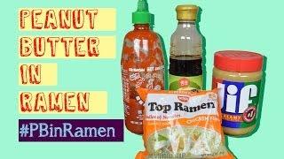 Epic Food: Peanut Butter In Bowl Of Ramen : Peanut Butter In Ramen : #pbinramen