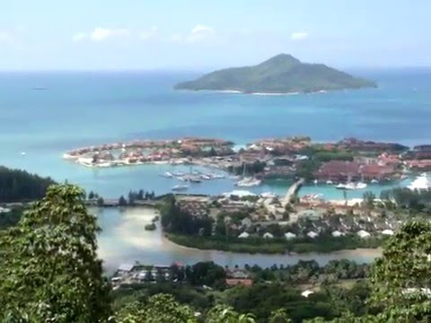 A view over Eden Island and parts of Victoria, capital of the Seychelles Islands