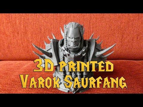 3D printed High Overlord Saurfang bust