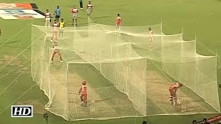 IPL9 KXIP vs KKR: Punjab Players Practicing In Nets