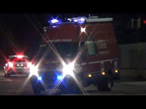 [Rare!]AF/UCL Vigili del Fuoco Brescia in emergenza | Fire Brigade Mobile Command Vehicle responding