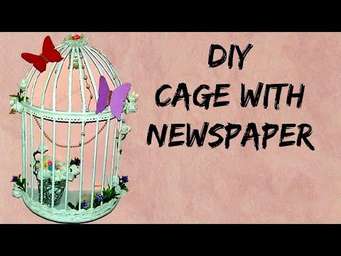 DIY room decor cage   DIY - Butterfly wall decor   wall decor idea