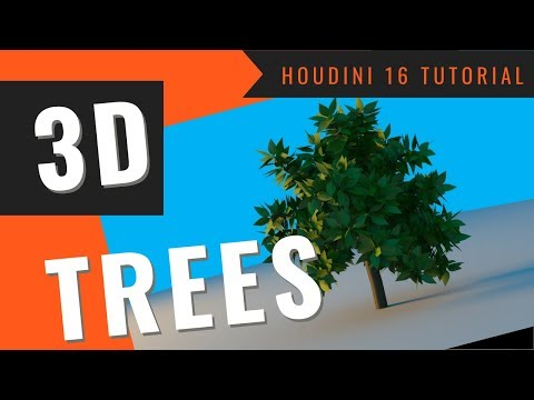 How to Generate Procedural 3D Tree Models in Houdini 16