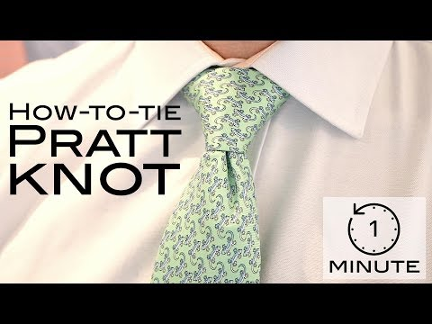 How to Tie a Tie - Pratt Knot (or Shelby) - Super Quick Lesson!