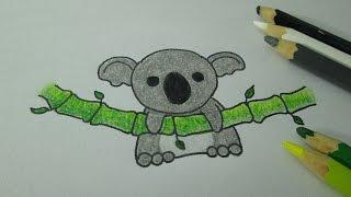 How to draw a kawaii koala