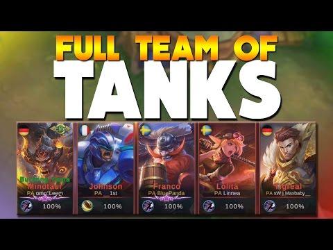 Mobile Legends FULL TEAM OF ONLY TANKS! (5 Tanks)