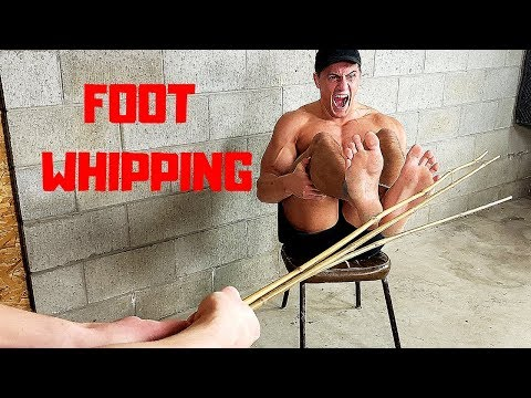 Surviving Foot WHIPPING Corporal Punishment *EXTREME PAIN* | Bodybuilder VS Bamboo Stick Whips