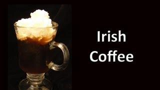 Irish Coffee Cocktail Drink Recipe