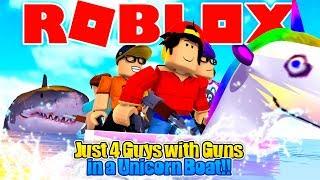 ROBLOX - JUST 4 GUYS MIT GUNS AUF EINEM UNICORN?!!!!