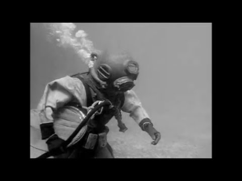 Actress Kathie Browne In Classic Hard Hat Diving Suit