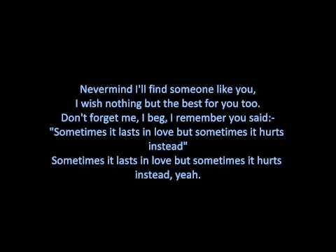 Adele - Someone Like You (ON SCREEN LYRICS)