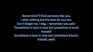 Adele - Someone Like You (ON SCREEN LYRICS)