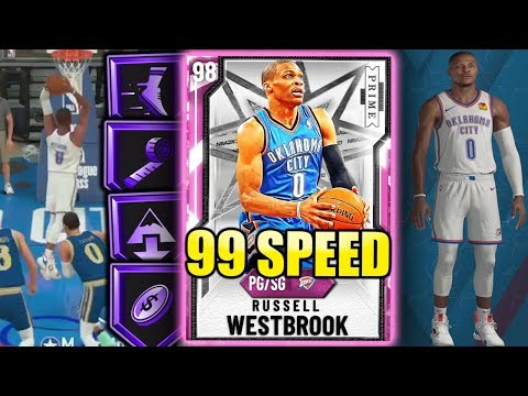 PINK DIAMOND RUSSELL WESTBROOK IS TOO FAST! 99 SPEED! NBA 2K20 MyTeam Gameplay